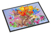 New Beginnings II Easter Rabbit Indoor or Outdoor Mat 24x36 PJC1067JMAT - the-store.com