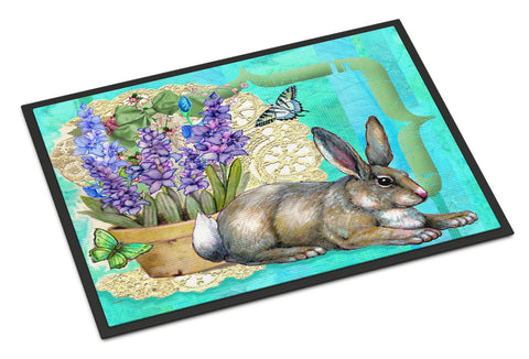 Buy this Springtime Easter Rabbit Indoor or Outdoor Mat 18x27 PJC1068MAT