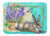 Buy this Springtime Easter Rabbit Machine Washable Memory Foam Mat PJC1068RUG