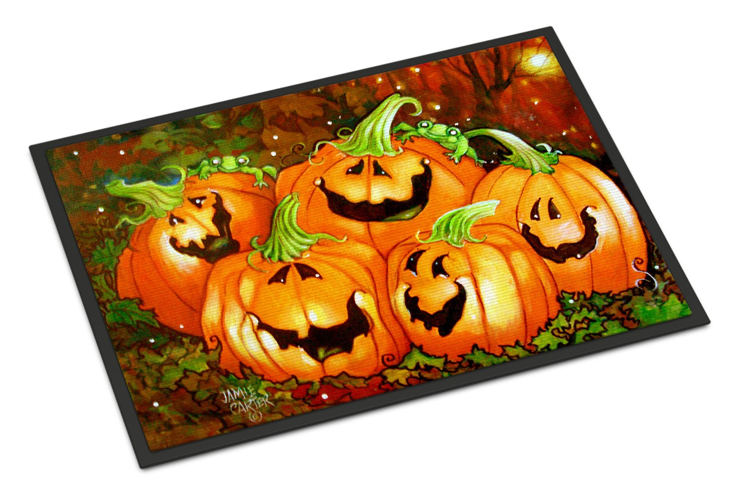 Such a Glowing Personality Pumpkin Halloween Indoor or Outdoor Mat 18x27 PJC1071MAT by Caroline's Treasures
