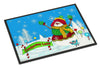 Candy Cane Lane Snowman Indoor or Outdoor Mat 24x36 PJC1075JMAT - the-store.com