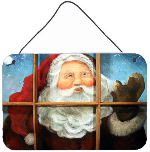 Kindly Visitor Santa Claus Christmas Wall or Door Hanging Prints PJC1079DS812 by Caroline's Treasures