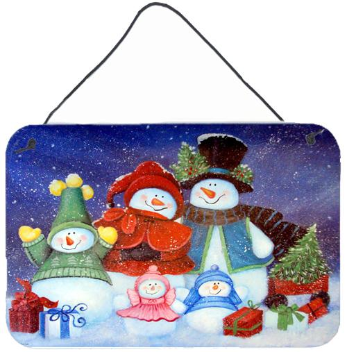 Merry Christmas From Us All Snowman Wall or Door Hanging Prints PJC1080DS812 by Caroline's Treasures