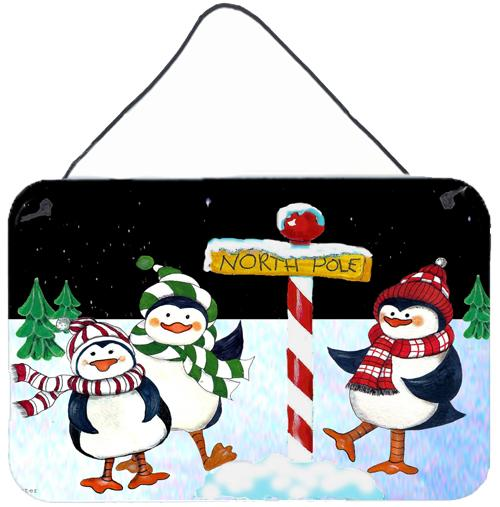 Buy this North Pole Welcomes You Penguins Wall or Door Hanging Prints