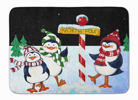 Buy this North Pole Welcomes You Penguins Machine Washable Memory Foam Mat PJC1082RUG