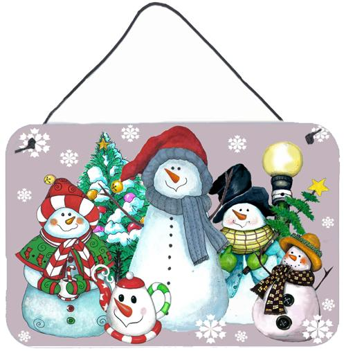Snowman Collection For the Holidays Wall or Door Hanging Prints PJC1084DS812 by Caroline's Treasures