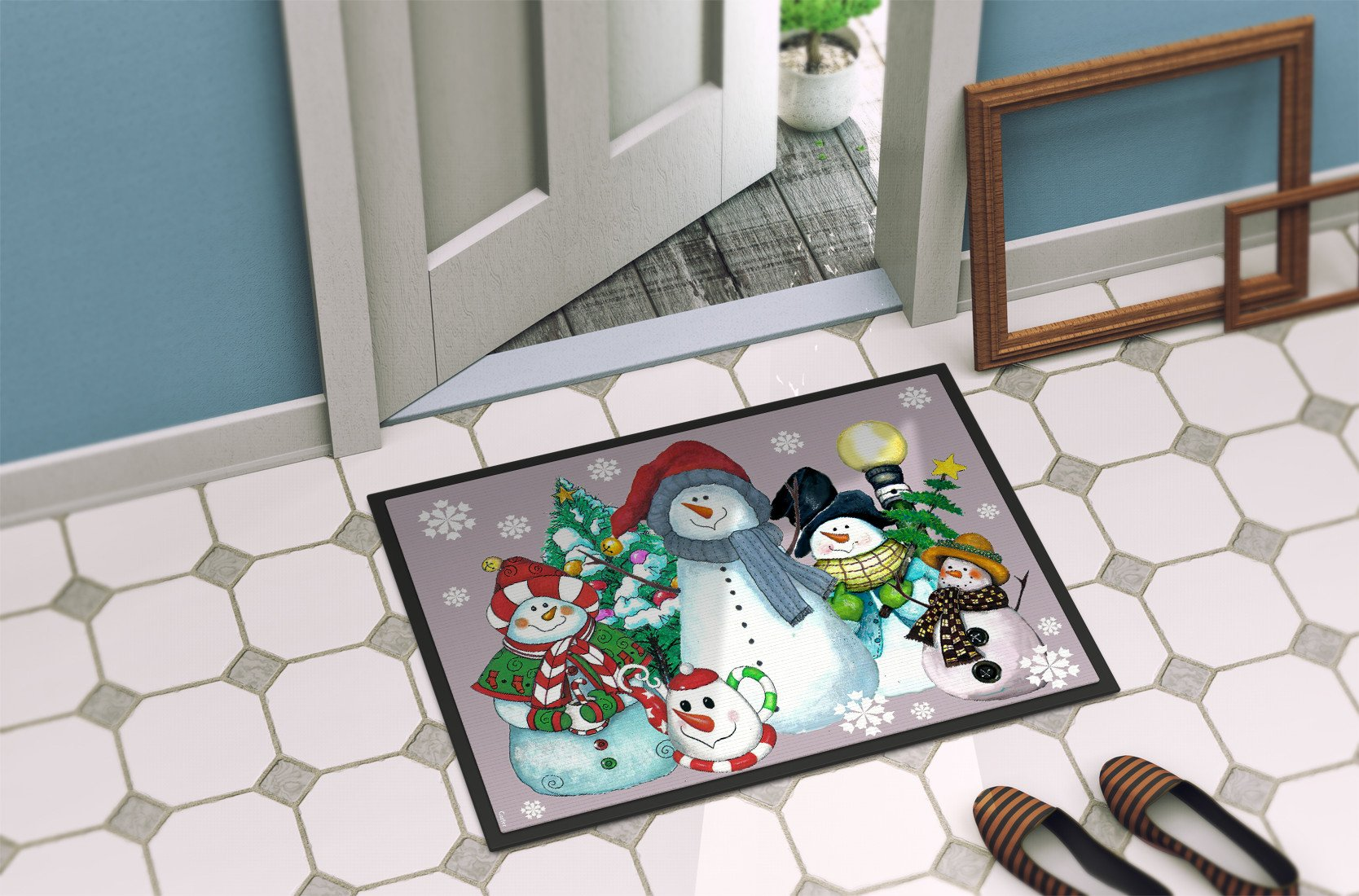 Snowman Collection For the Holidays Indoor or Outdoor Mat 24x36 PJC1084JMAT by Caroline's Treasures