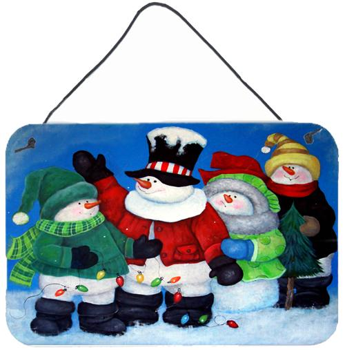 The Light Brigade Snowman Wall or Door Hanging Prints PJC1087DS812 by Caroline's Treasures