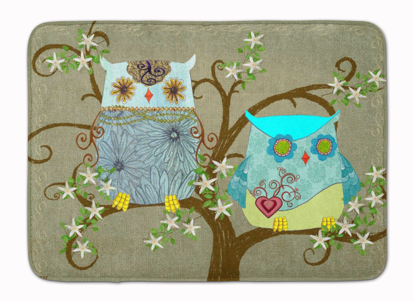 The Friendly Ladies Owl Machine Washable Memory Foam Mat PJC1094RUG by Caroline's Treasures
