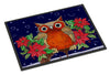 Whose Happy Holidays Owl Indoor or Outdoor Mat 24x36 PJC1097JMAT - the-store.com