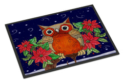 Buy this Whose Happy Holidays Owl Indoor or Outdoor Mat 24x36 PJC1097JMAT