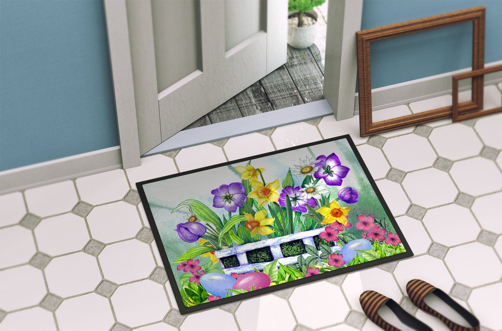 Finding Easter Eggs Indoor or Outdoor Mat 24x36 PJC1099JMAT - the-store.com