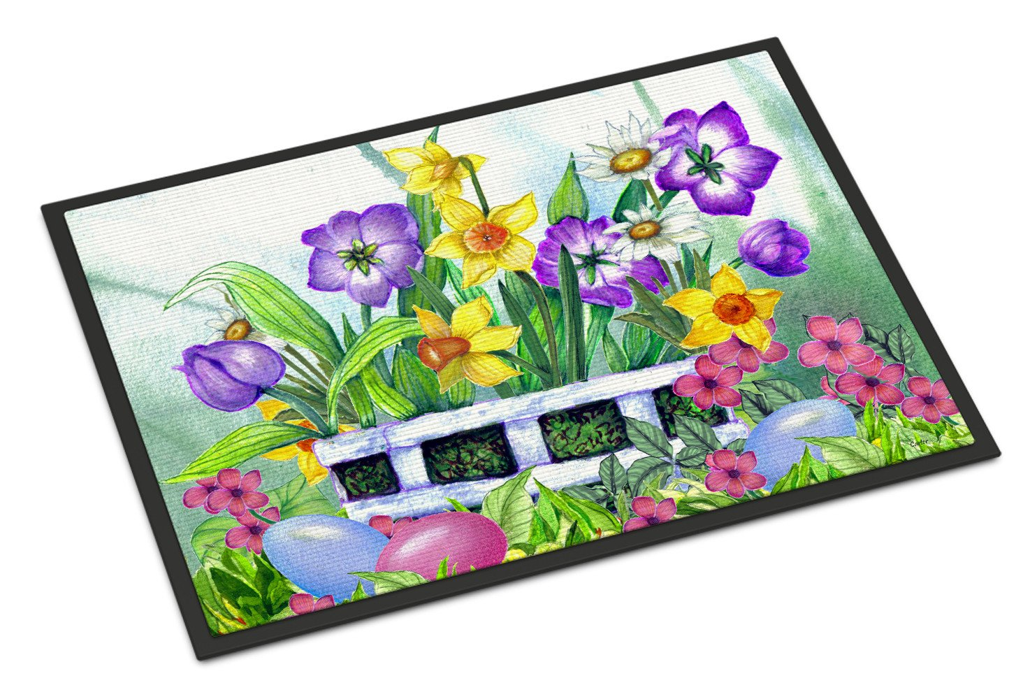 Finding Easter Eggs Indoor or Outdoor Mat 18x27 PJC1099MAT - the-store.com