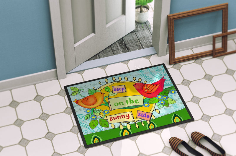 Keep on the Sunny Side Indoor or Outdoor Mat 24x36 PJC1100JMAT by Caroline's Treasures