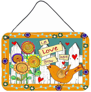 Buy this Let Love Grow Here Wall or Door Hanging Prints PJC1101DS812