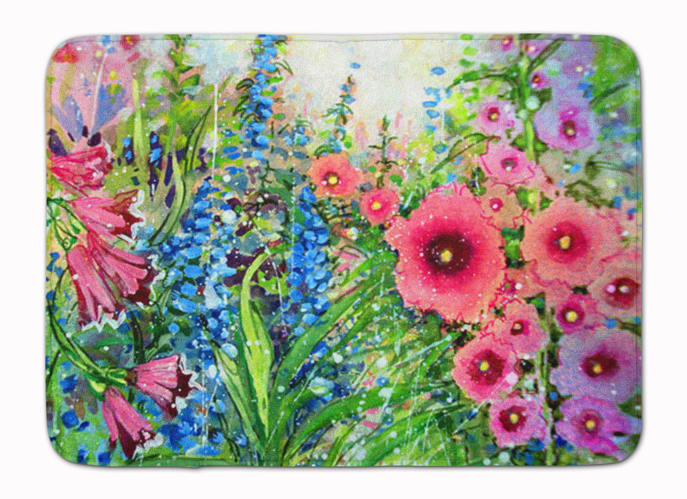 Buy this Easter Garden Springtime Flowers Machine Washable Memory Foam Mat PJC1107RUG