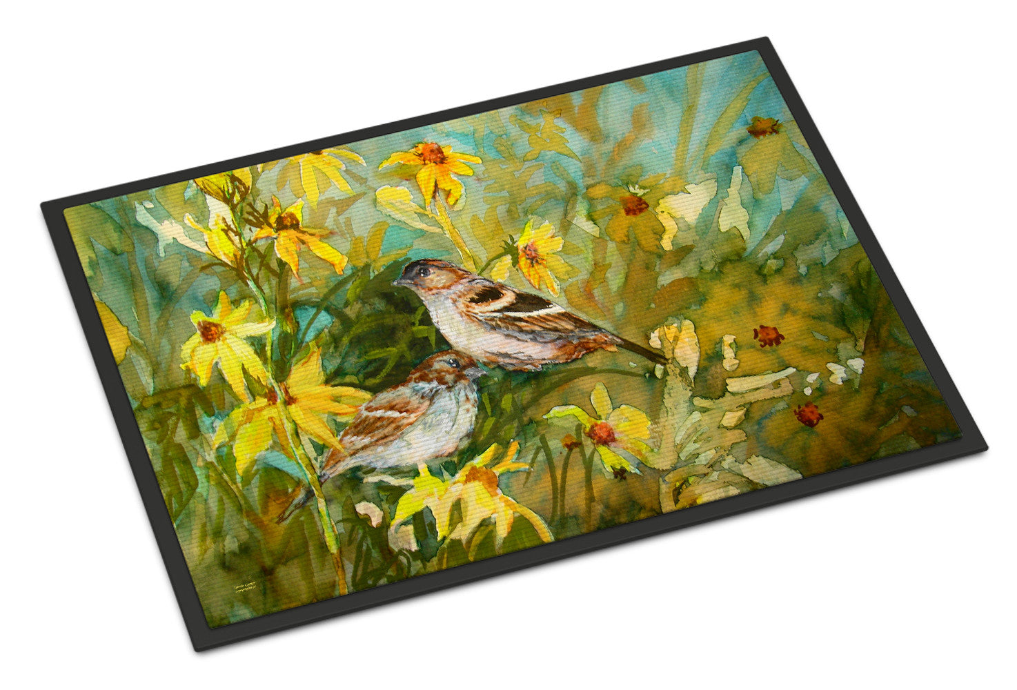 Sparrows in the Field Indoor or Outdoor Mat 18x27 PJC1111MAT by Caroline's Treasures