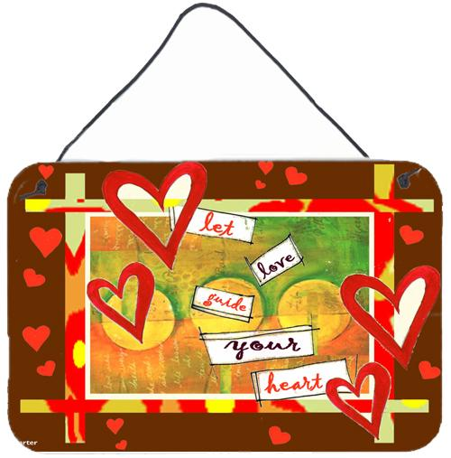 Let Love Guide Your Heart Valentine's Day Wall or Door Hanging Prints by Caroline's Treasures