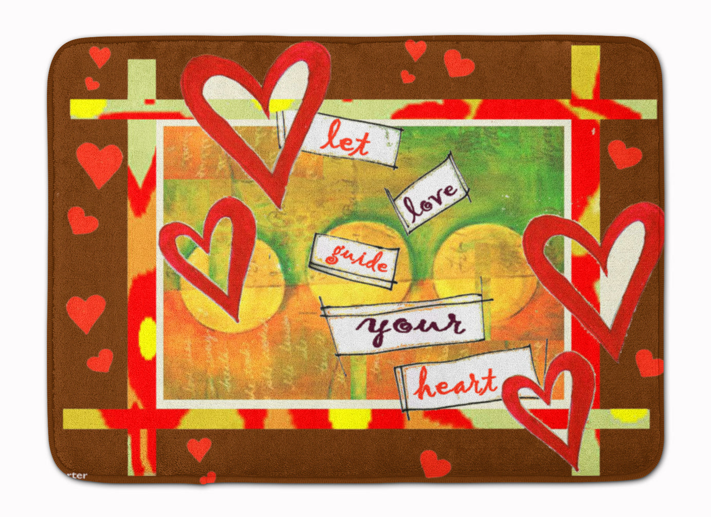 Let Love Guide Your Heart Valentine's Day Machine Washable Memory Foam Mat PJC1113RUG by Caroline's Treasures