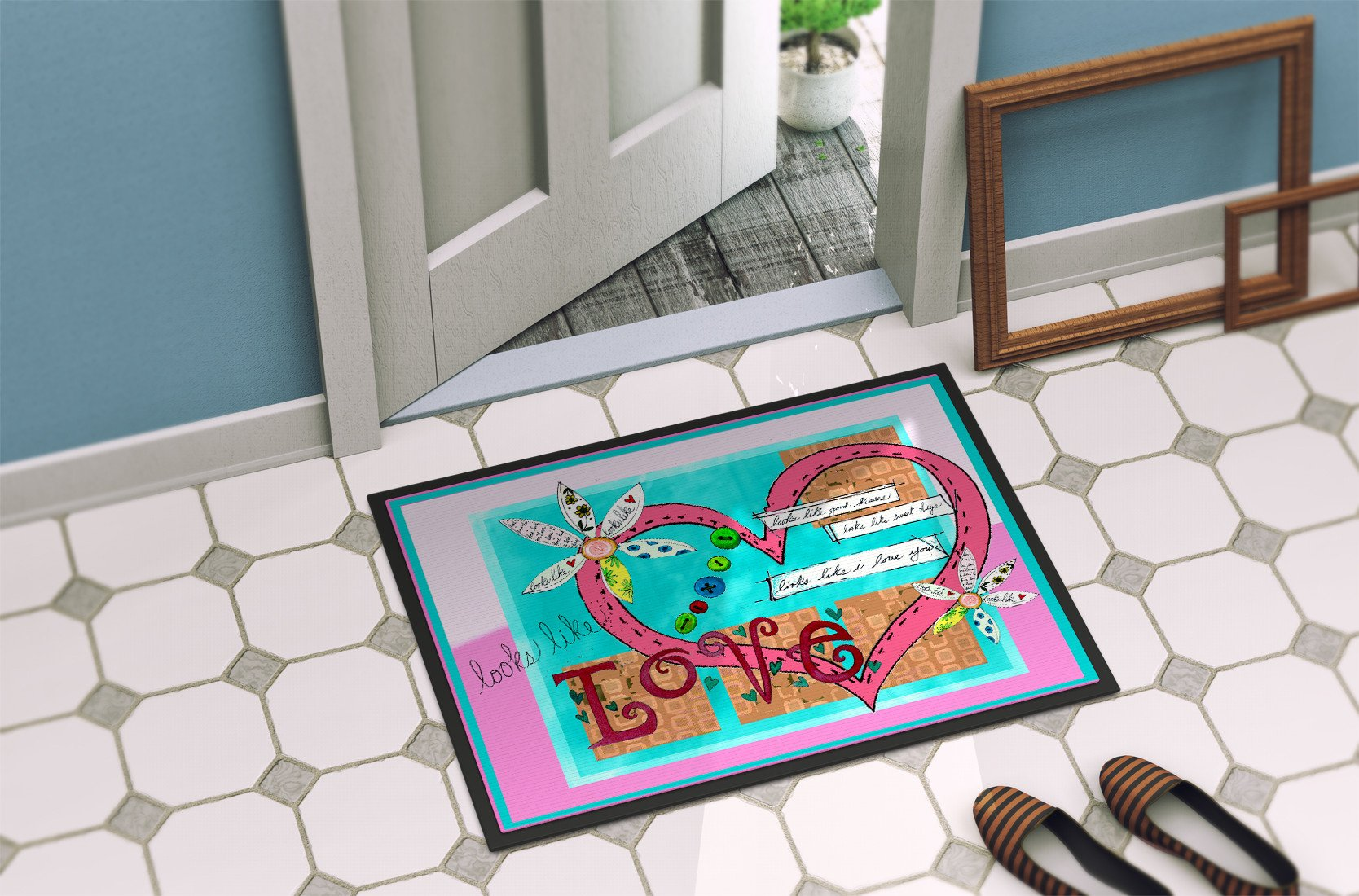 Looks Like I Love You Valentine's Day Indoor or Outdoor Mat 24x36 PJC1114JMAT - the-store.com