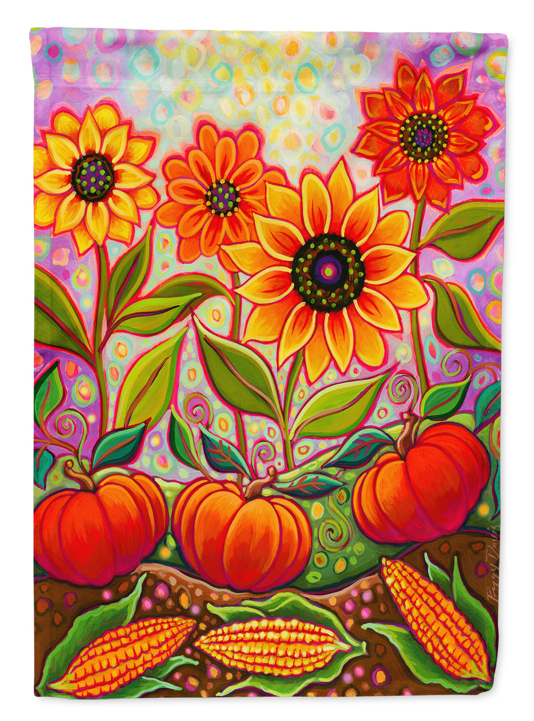 Fall Harvest Flag Canvas House Size PPD3001CHF by Caroline's Treasures