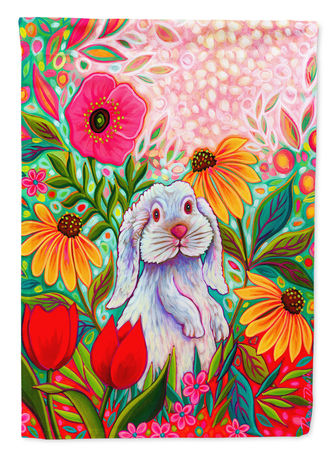 Little Spring Hippity Hop Easter Flag Canvas House Size PPD3005CHF by Caroline's Treasures