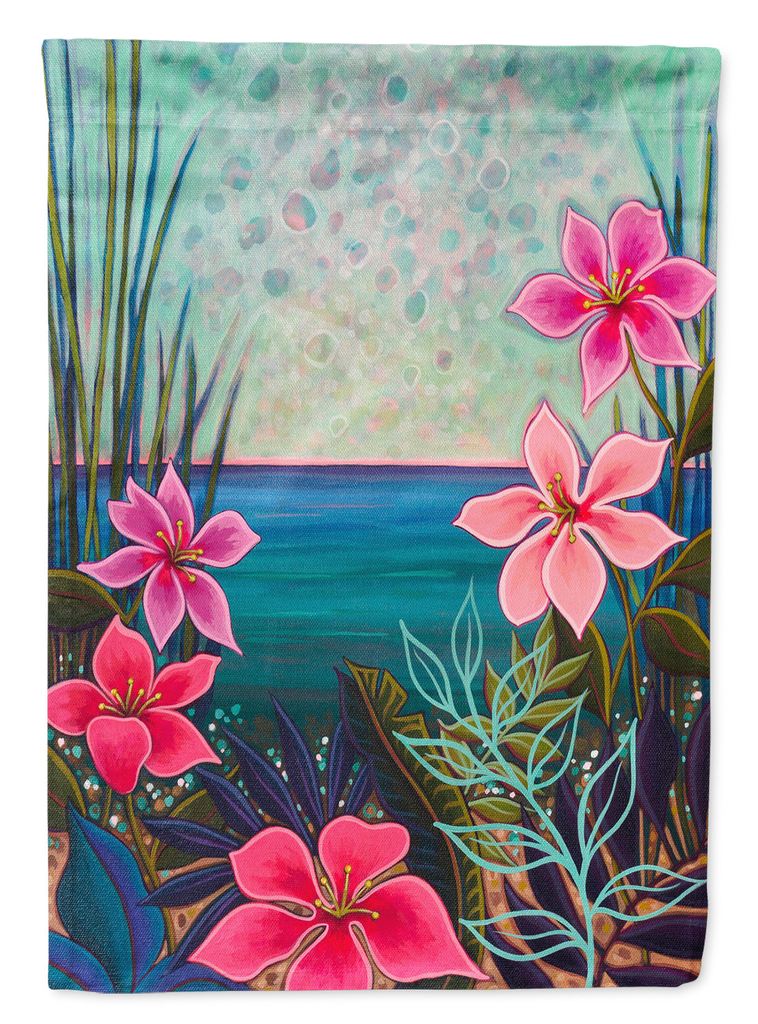 Paradise Flowers Flag Canvas House Size PPD3008CHF by Caroline's Treasures
