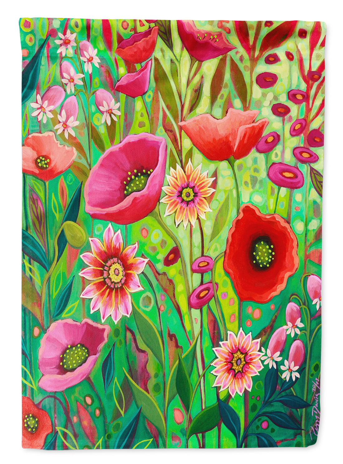Pink Passion Flowers Flag Canvas House Size PPD3010CHF by Caroline's Treasures