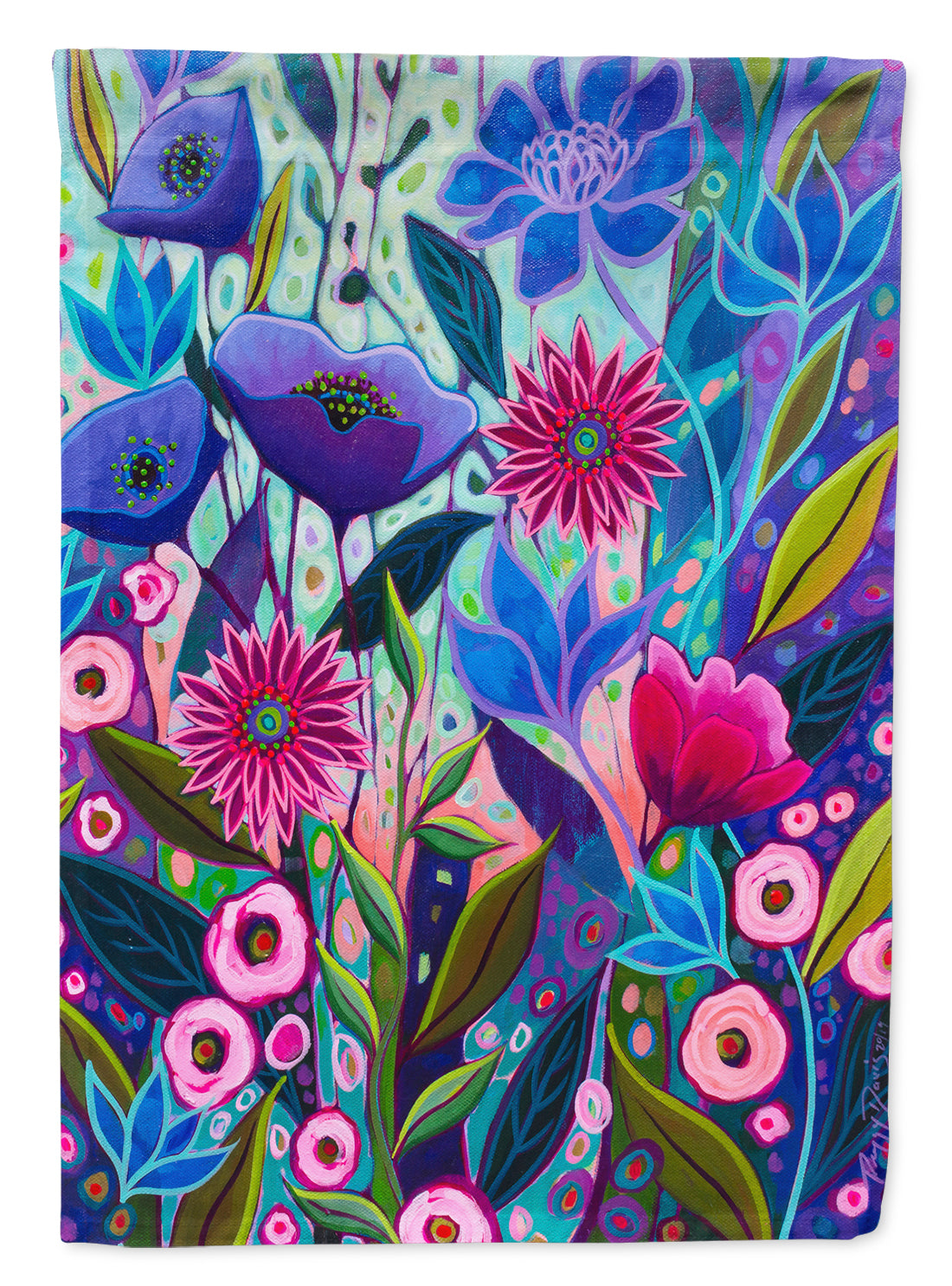 Purple Blossoms II Flowers Flag Canvas House Size PPD3011CHF by Caroline's Treasures