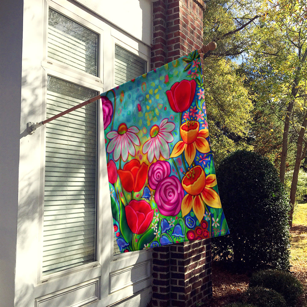 Bright Spring Flowers Flag Canvas House Size PPD3012CHF by Caroline's Treasures