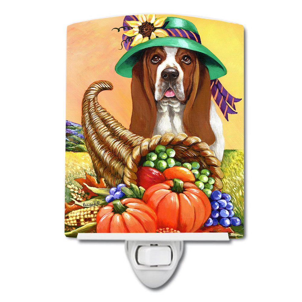 Basset Hound Autumn Ceramic Night Light PPP3010CNL by Caroline's Treasures