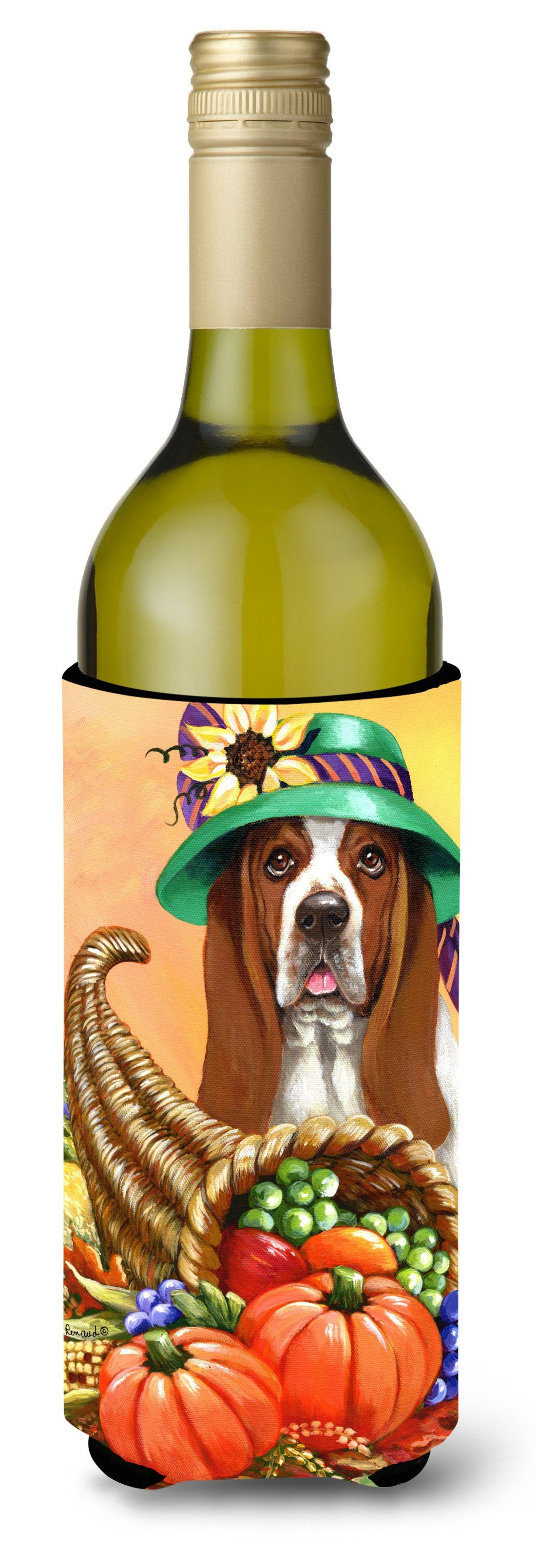 Basset Hound Autumn Wine Bottle Hugger PPP3010LITERK by Caroline's Treasures