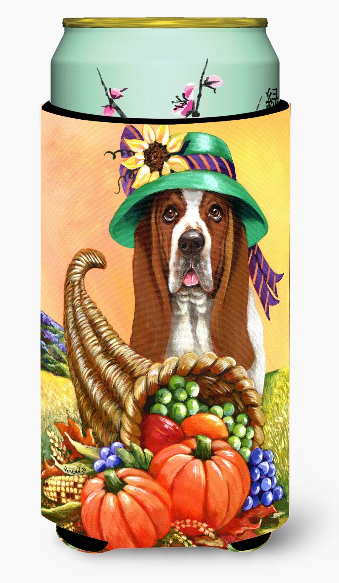 Basset Hound Autumn Tall Boy Hugger PPP3010TBC by Caroline's Treasures