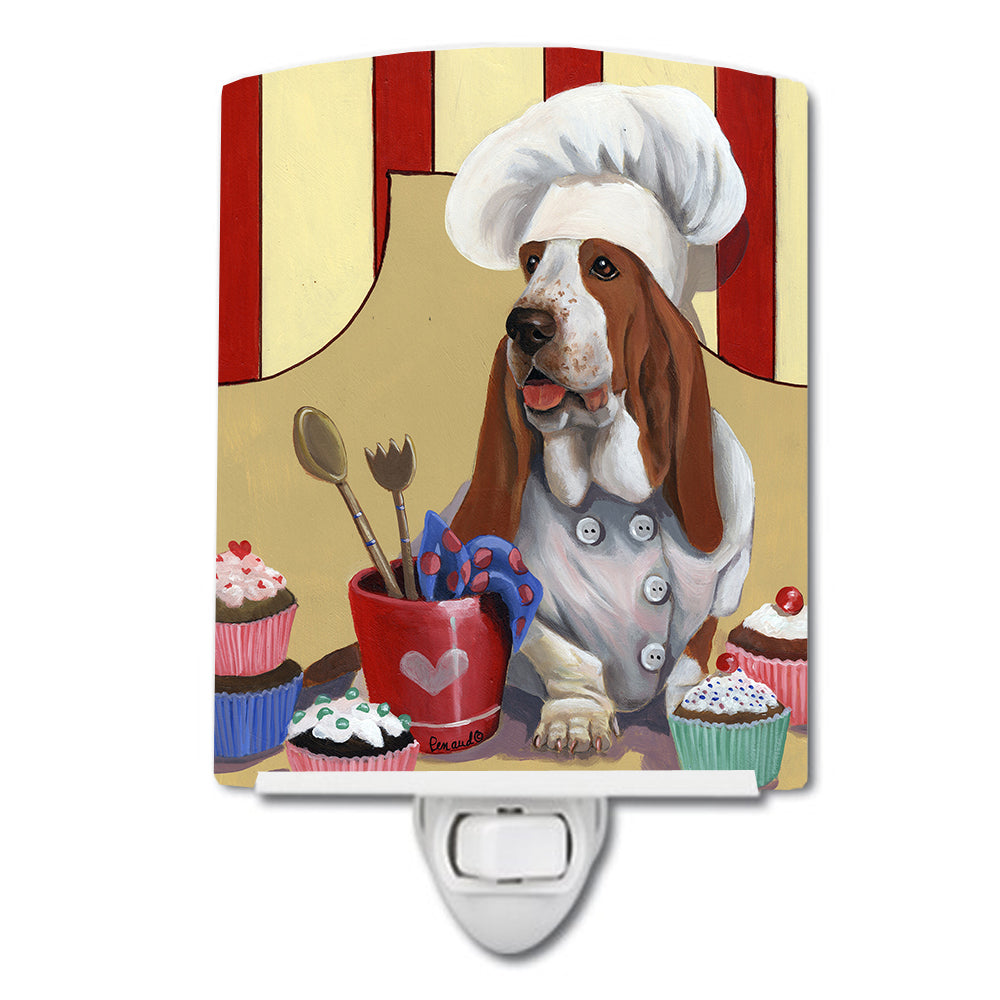 Basset Hound Cupcake Hound Ceramic Night Light PPP3011CNL by Caroline's Treasures