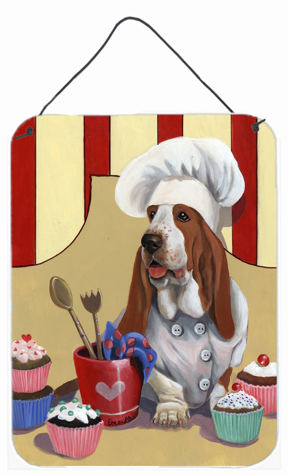 Buy this Basset Hound Cupcake Hound Wall or Door Hanging Prints PPP3011DS1216
