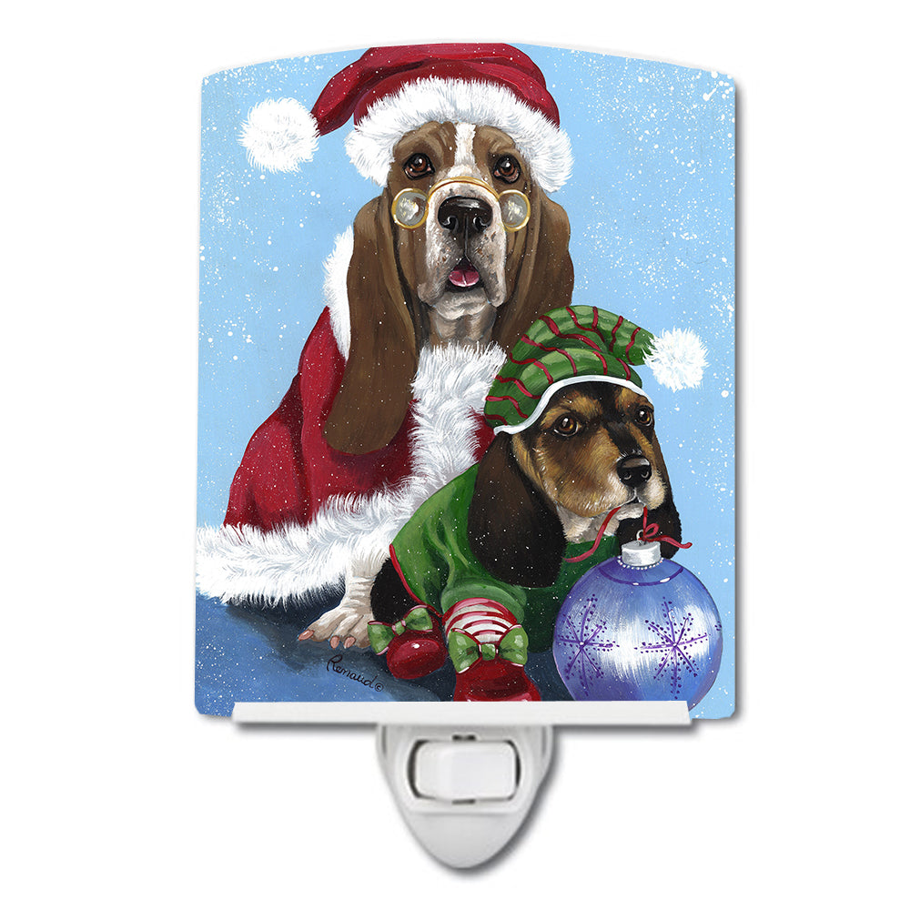 Basset Hound Santa Christmas Ceramic Night Light PPP3012CNL by Caroline's Treasures