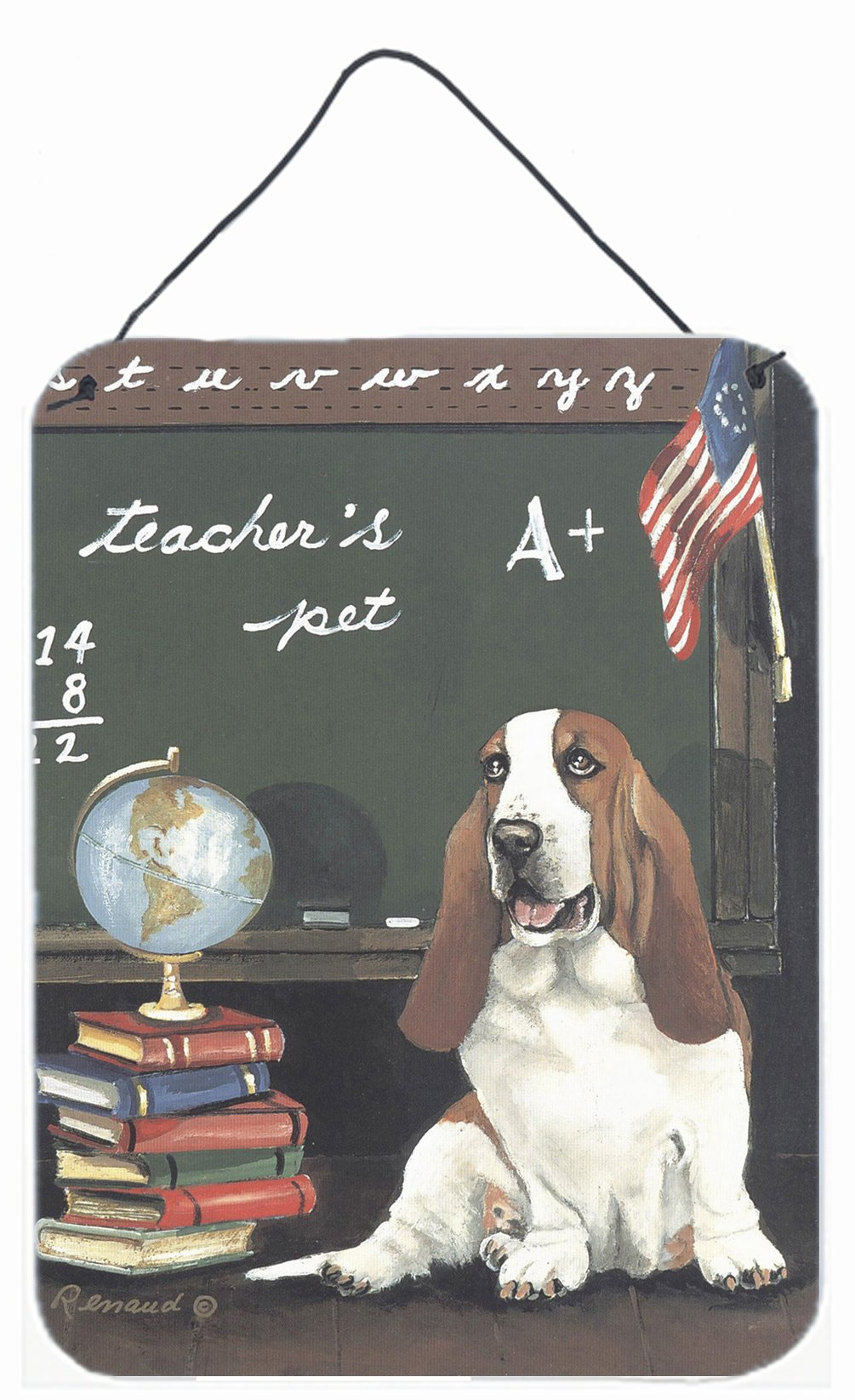 Buy this Basset Hound Teacher's Pet Wall or Door Hanging Prints PPP3013DS1216