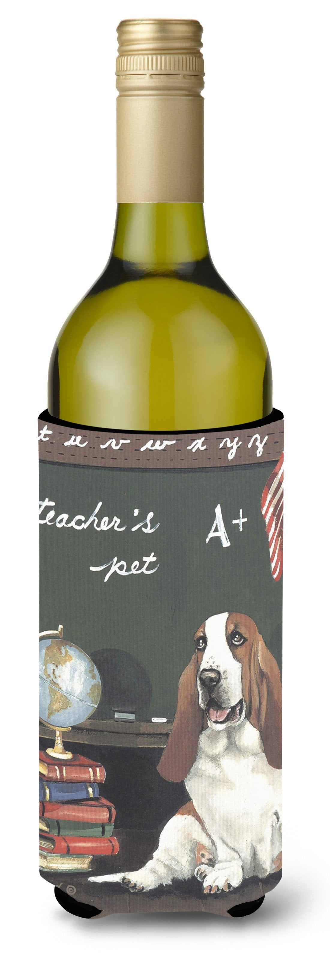 Basset Hound Teacher's Pet Wine Bottle Hugger PPP3013LITERK by Caroline's Treasures