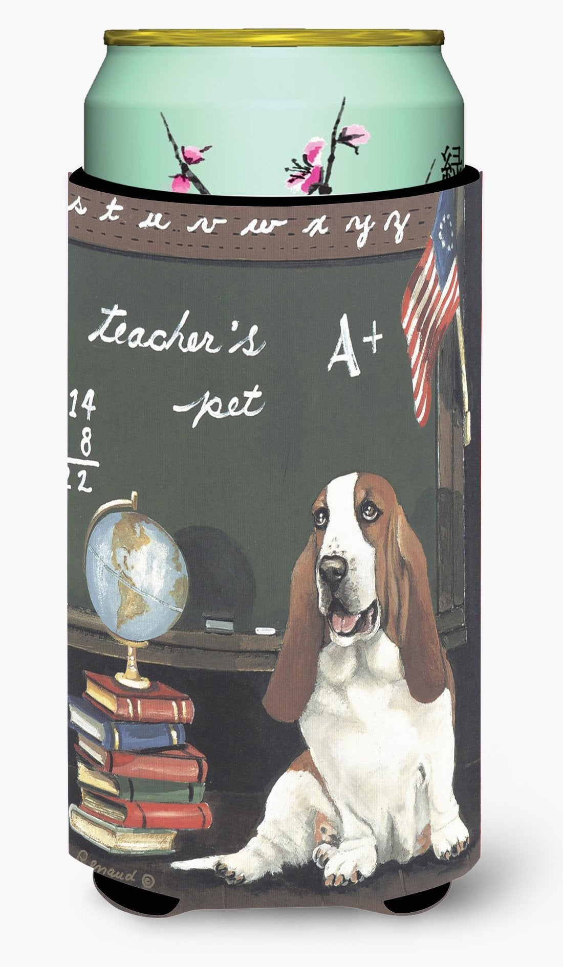 Basset Hound Teacher's Pet Tall Boy Hugger PPP3013TBC by Caroline's Treasures