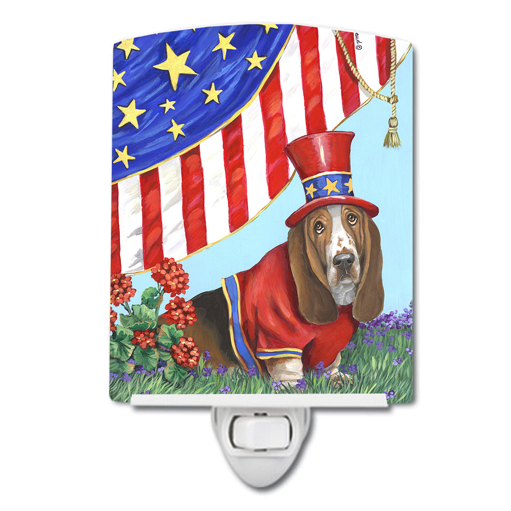 Basset Hound USA Ceramic Night Light PPP3014CNL by Caroline's Treasures