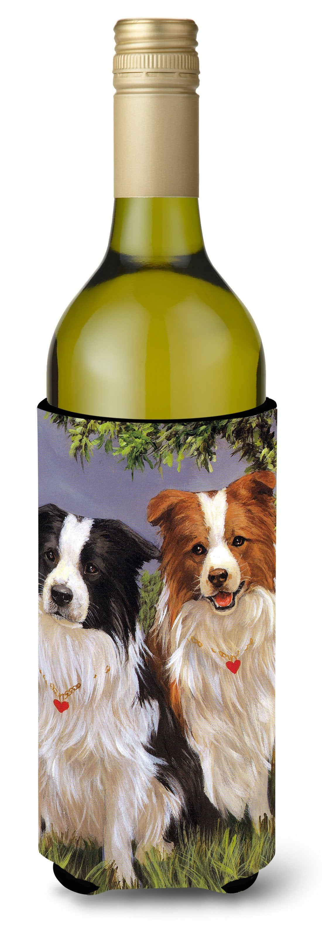 Border Collie Patrol Wine Bottle Hugger PPP3029LITERK by Caroline's Treasures