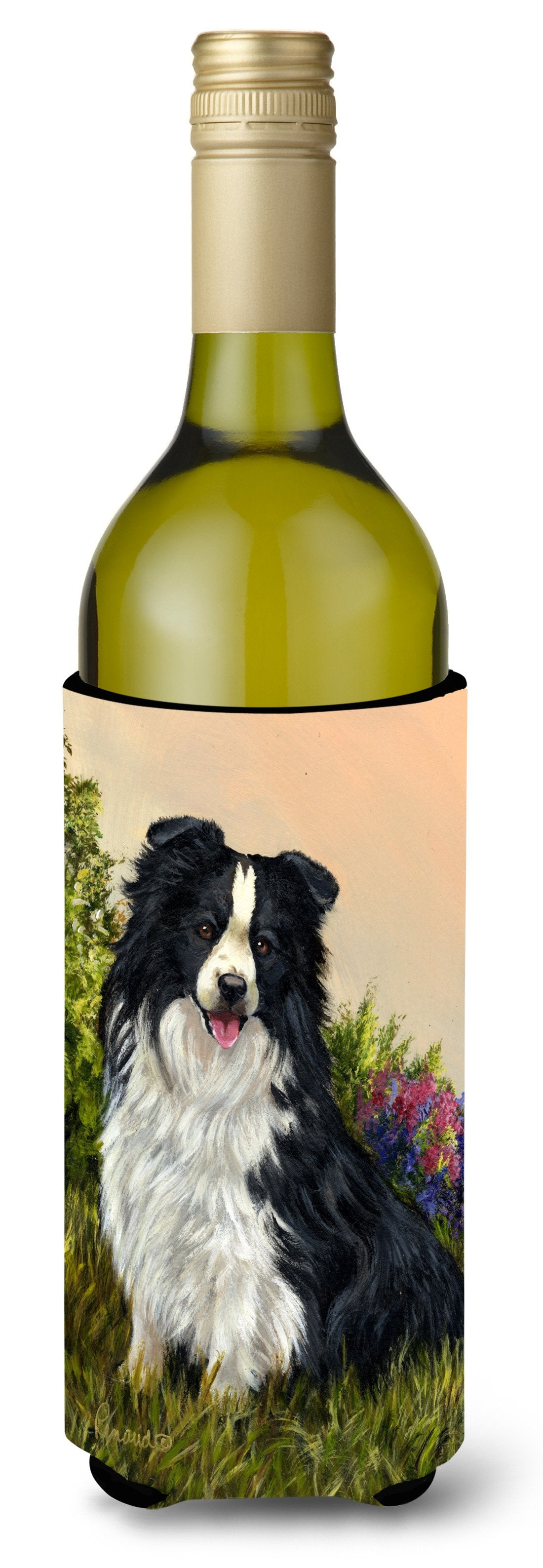 Border Collie Simplicity Wine Bottle Hugger PPP3031LITERK by Caroline's Treasures