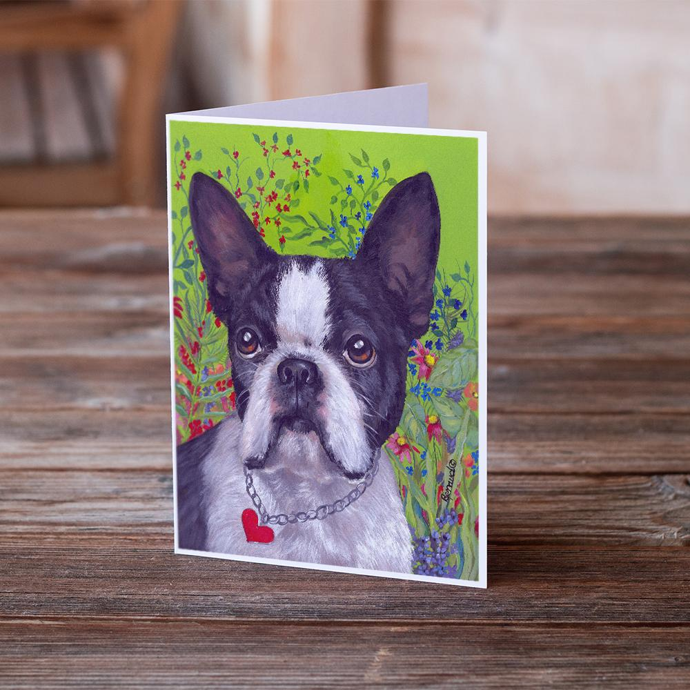 Buy this Boston Terrier Jungle Greeting Cards and Envelopes Pack of 8