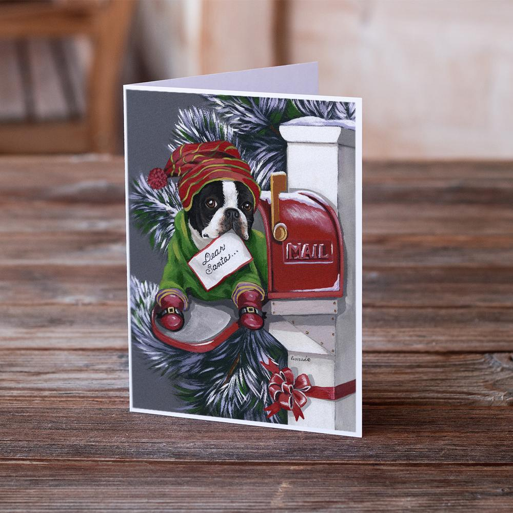 Buy this Boston Terrier Letter to Santa Christmas Greeting Cards and Envelopes Pack of 8