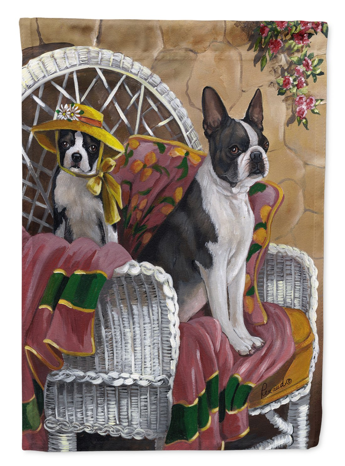 Buy this Boston Terrier Patio Gems Flag Garden Size PPP3036GF