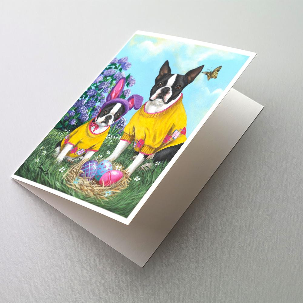 Buy this Boston Terrier Easter Bunny Greeting Cards and Envelopes Pack of 8