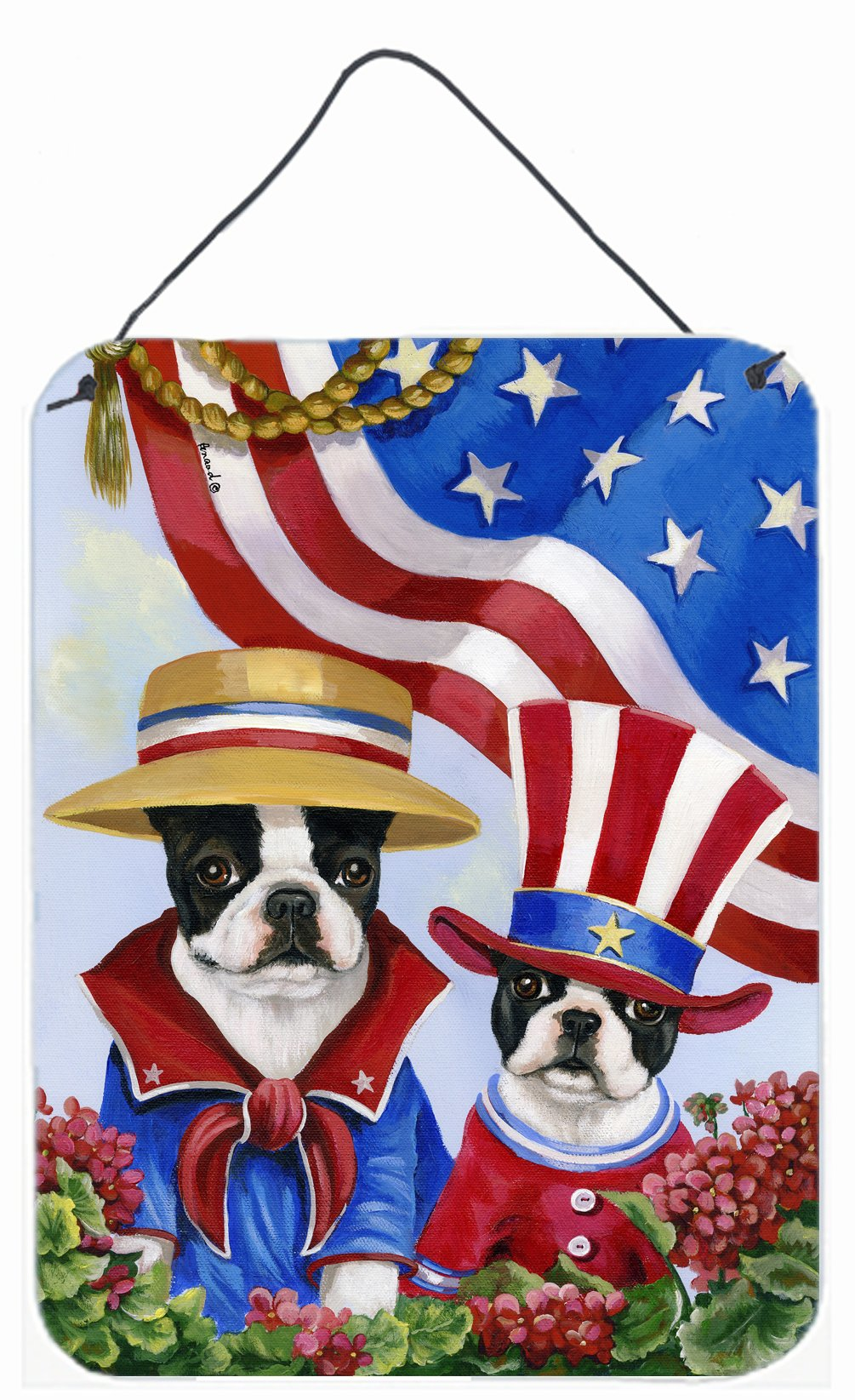 Buy this Boston Terrier USA Wall or Door Hanging Prints PPP3038DS1216
