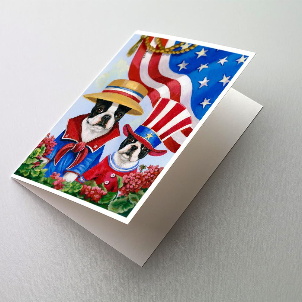 Buy this Boston Terrier USA Greeting Cards and Envelopes Pack of 8