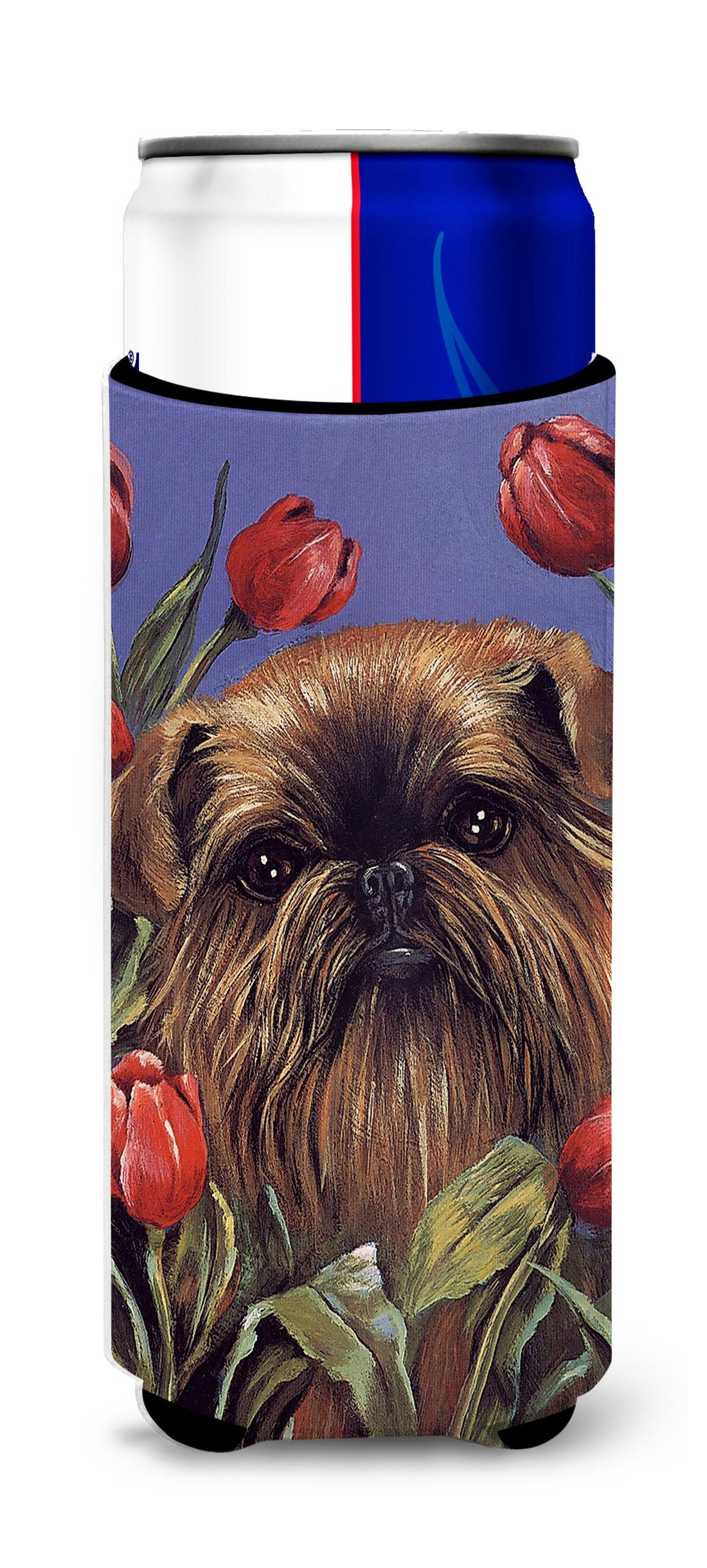 Brussels Griffon Peek a Boo Ultra Hugger for slim cans PPP3041MUK by Caroline's Treasures