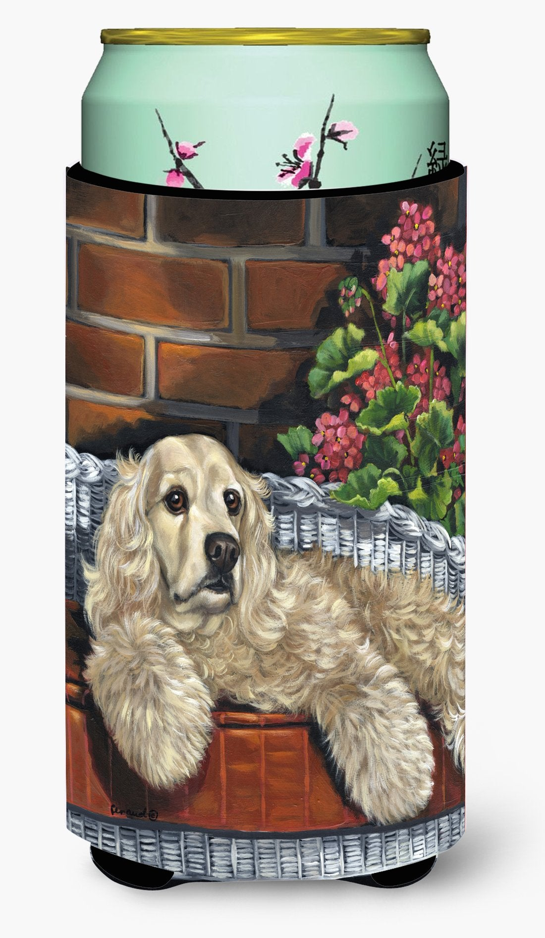 Cocker Spaniel Life is Good Tall Boy Hugger PPP3074TBC by Caroline's Treasures